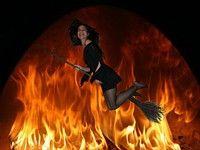 Ведьма на метле фото