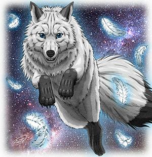 Тотем-белый-волк-фото