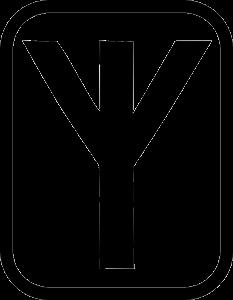 Изображение прямой Альгиз